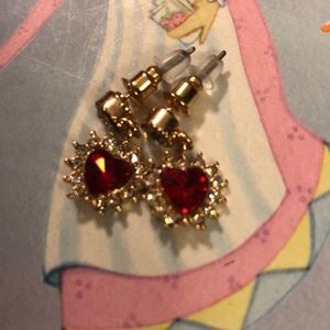 ❣️New Dainty Rhinstone Heart and Diamonds earrings